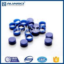 Blue Solid Cap 9mm Kappe mit Silikon / PTFE Liner für 2ml Durchstechflasche