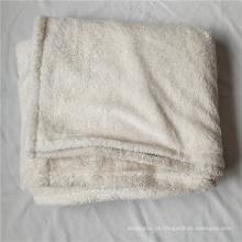 Cobertura bilateral do velo de veludo cobertor de lã