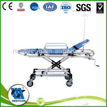 Aluminium hospital stretcher trolley used ambulance stretcher