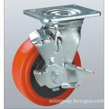 PU Caster with PP Core, Double Ball Bearing