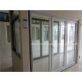 Porte de patio pliante en aluminium coulissante