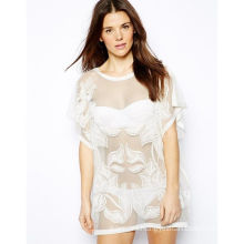 Wholesale Island White Fshion Women Beach Kaftan (XINYU135)
