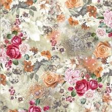 Custom Digital Printed Polyester Floral Dress Chiffon Fabric
