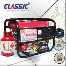 CLASSIC (CHINA) AC Generador portátil de gas LP monofásico, Generadores de LP aprobados por CE, Generadores de LP de ahorro de combustible para la venta