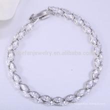 Brand new bijoux en laiton modèles de bracelet de chaîne en or blanc