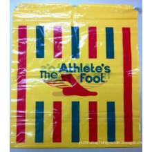 cheap promotional plastic drawstring bag