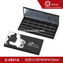 Klare Kunststoff-Box Kunststoff benutzerdefinierte Lidschatten Palette Verpackung