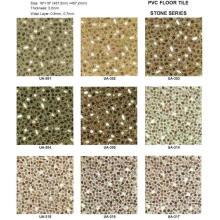 Azulejos de piedra del piso del vinilo