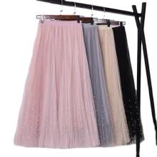 Modisches formales Gaze-Plissee-Kleid