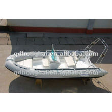 barco de casco de fibra de vidro RIB430 com CE