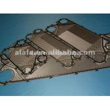 placa de titânio placa trocador de calor, trocador de calor de peça de reposição