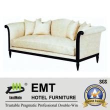 Высококачественный удобный диван-кровать Деревянный диван для отеля (EMT-SF29)
