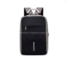 Mochila recargable USB viaje escolar doble bandolera