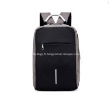 Sac à bandoulière double pour voyage scolaire rechargeable par sac à dos USB