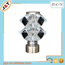 hot sales telescopic curtain rod with decorative glass finials
