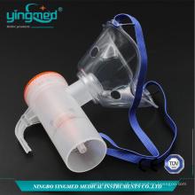 Kit máscara nebulizador com frasco de remédio