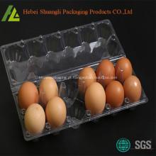 Bandeja para ovos de plástico descartável PET