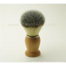 Cepillo de afeitar del pelo del tejón de madera de la manija