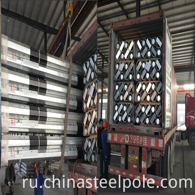 Galvanized Steel Road Traffic Pole