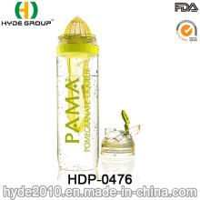 2016 Recém-Garrafa de Infusão de Plástico BPA Free Fruit, Fruta Tritan Fresco Garrafa Infusor (HDP-0476)