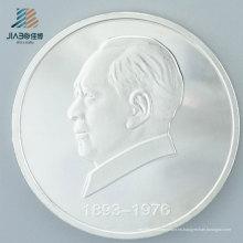 Moneda promocional del recuerdo del metal del regalo de la plata pura para el desafío