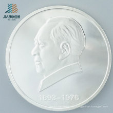 Custom Pure Silver Promotional Gift Metal Souvenir Coin for Challenge