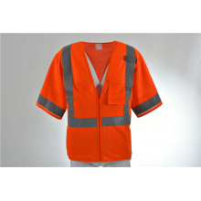 Gilet de sécurité arpenteur Construction solide Orange deux tons