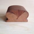 Precio de barandilla de madera sólida redonda de diseño moderno