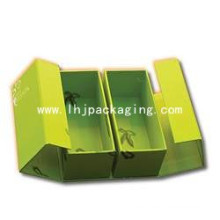 Caja de regalo de embalaje de zapatos de alta calidad con estampación de láminas