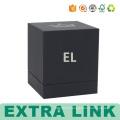 Popular Design Factory Custom Spot UV Logo Black Soft Paper Luxury Perfume Packaging Boxes
