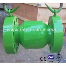 Válvula de retención de boquilla de flujo axial con brida de alta calidad