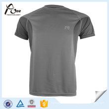 T-shirt lisos do ajuste seco reversível feito sob encomenda da roupa da aptidão da aptidão