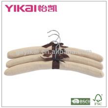 Комплект вешалки для одежды из ткани с микросуссуми 3шт в чистом цвете