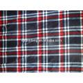 60*60 drapery soft plaid yarn dyed cotton red black striped fabric