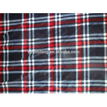 60 * 60 drapierung weiches kariertes garn gefärbt baumwolle rot schwarz gestreiften stoff