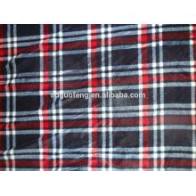 60 * 60 draperies doux tissu à carreaux teint en coton rouge rayé noir tissu