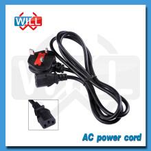 BS 13A 250V fusible Reino Unido cable de alimentación con enchufe