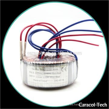 Transformador toroidal de 50/60 Hz y 220 voltios a 12 voltios