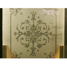 Glass manufacturer high quality acid etched embroidered glass