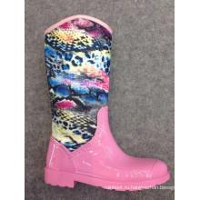 розовый дамы высокий каблук сапоги д-685