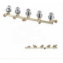 Manufacturer Hot Selling  Brass Bathroom Siamese/Conjoined 5 Function  Waterfall Faucets Chrome Wall Mounted Shower Mixer Taps