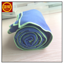 75*150cm blue suede 200gsm microfiber blanket