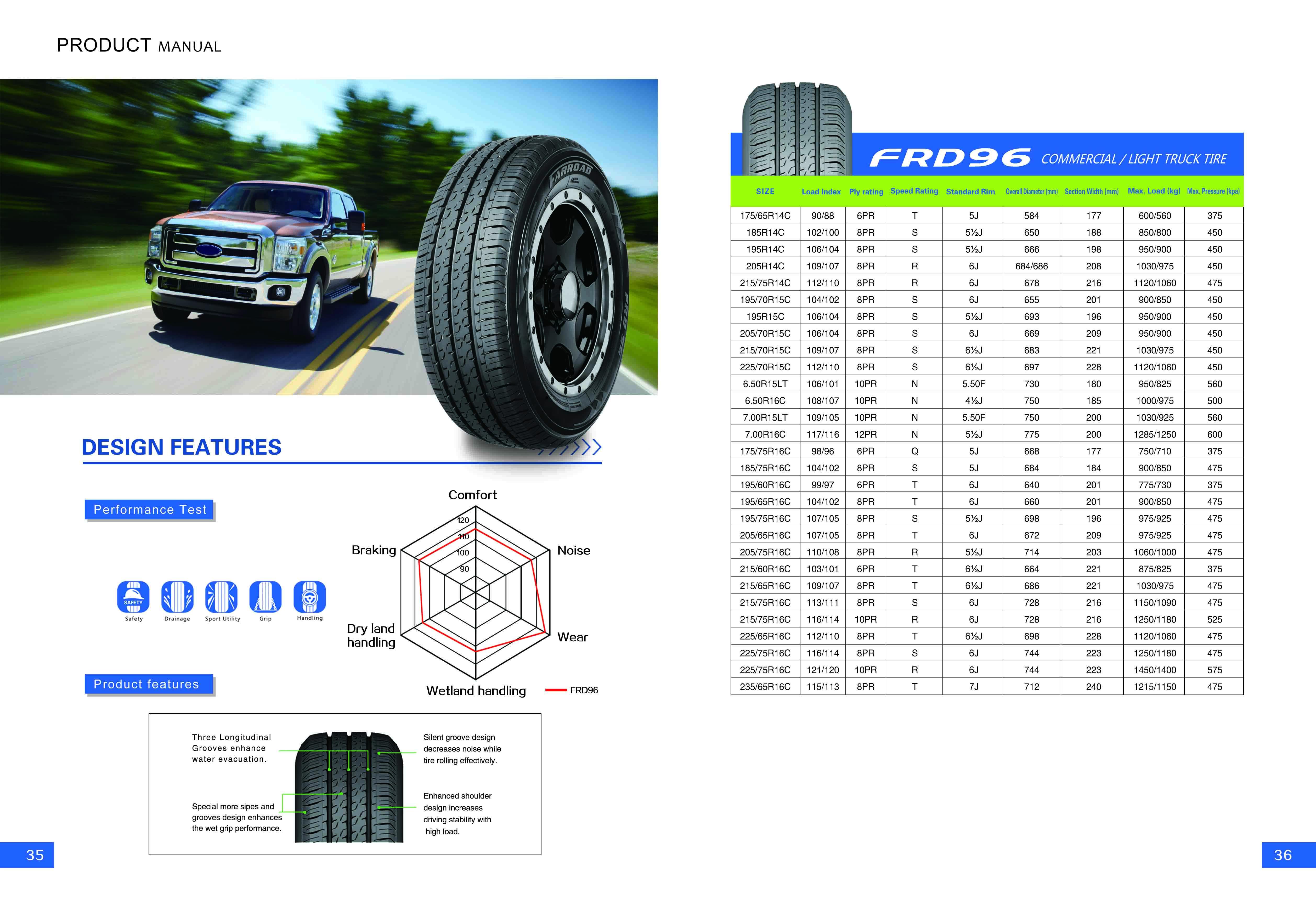 18-FRD96 LT TIRE 205/70R15C