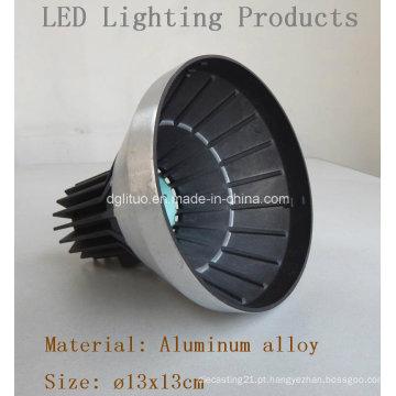 Corpo da carcaça da iluminação do diodo emissor de luz / peças da liga de alumínio Die Casting