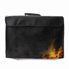 Expanding file folder document fireproof bag for money,  Fiberglass fire resistant document bag at workplace