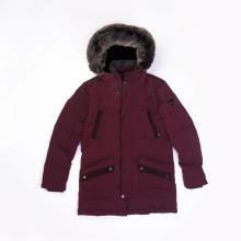 Men`s fake fur-hooded down jacket