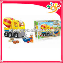 funny happy block set with music battery operated truck building blocks