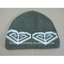 Tricotados chapéus de inverno / chapéus banie / 100% poliéster malha chapéus