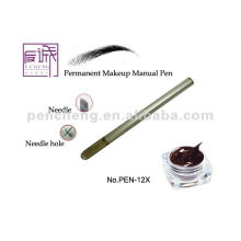 Stylo de maquillage manuel permanent au sourcil avec lames