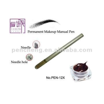 Permanente manual tatuagem sobrancelha maquiagem caneta com lâmina